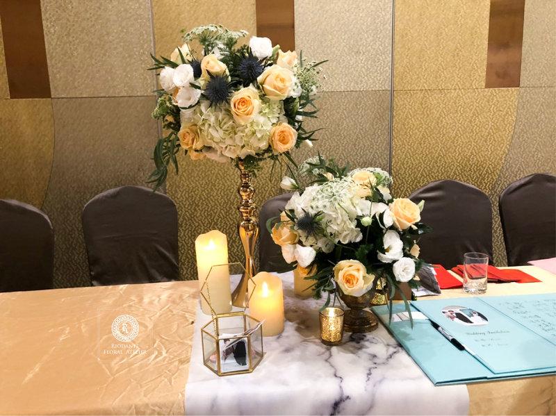 婚禮佈置專案-大理石系列-氣球花藝混搭