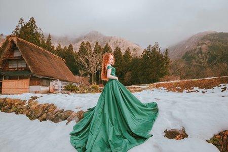 日本合掌村海外婚紗造型