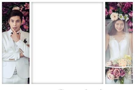 婚禮大頭貼 手機即可拍_白色簡約風格