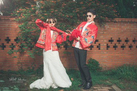 時尚中式婚紗