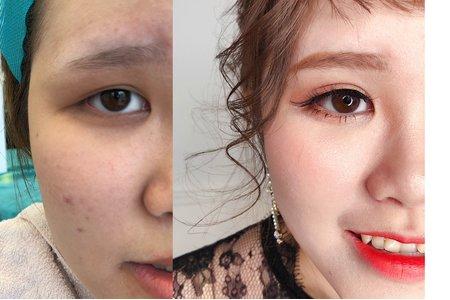 日系甜美🎀花苞髮型配上輕透妝感❤️