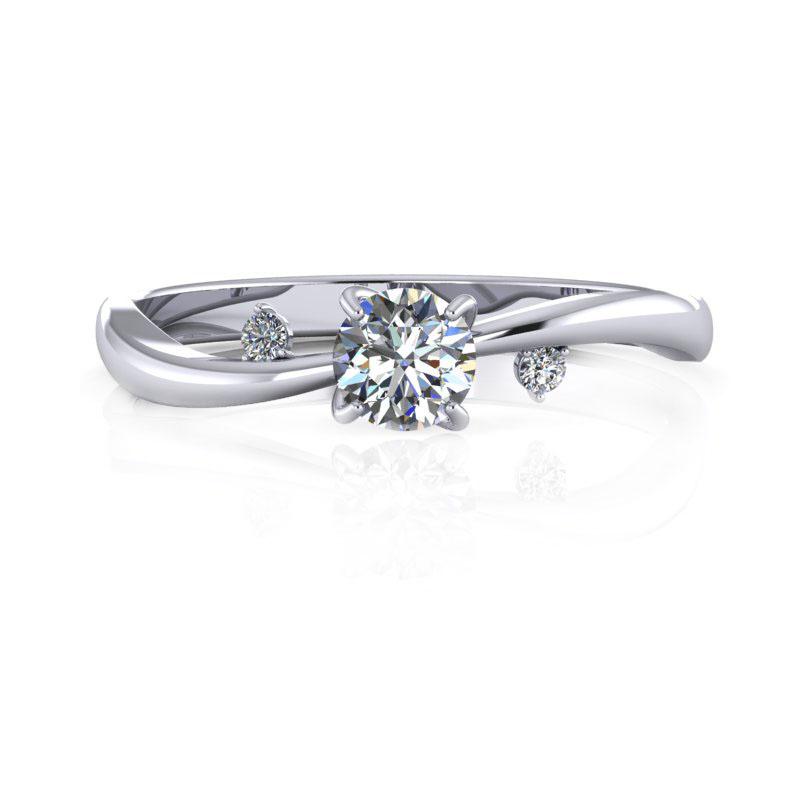 10-WR00799-PT900-01 - 台北輝記婚戒鑽石《結婚吧》