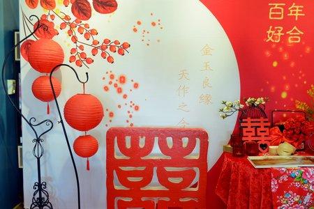 中國風布背板套餐C3 百年好合款