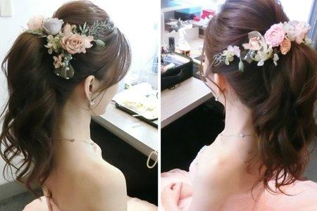新秘sammi lo/甜美~高馬尾造型