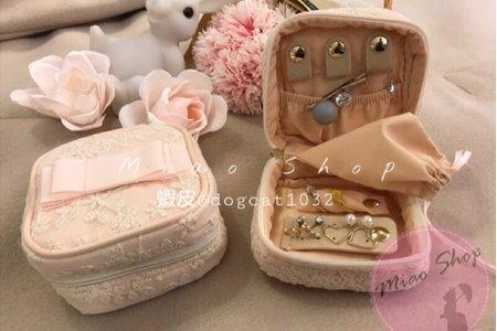 少女心噴發系列💗粉嫩蕾絲首飾包