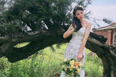 乾燥花白紗輕婚紗作品