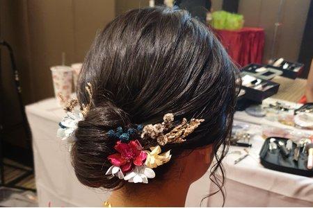 訂婚 中式髮型