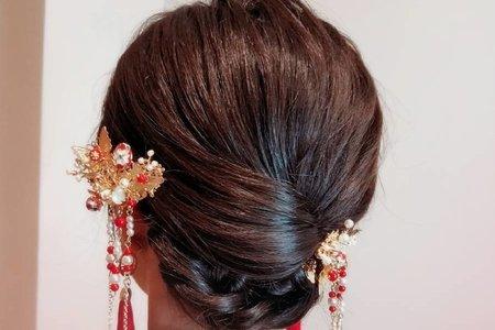 中式龍鳳掛髮型