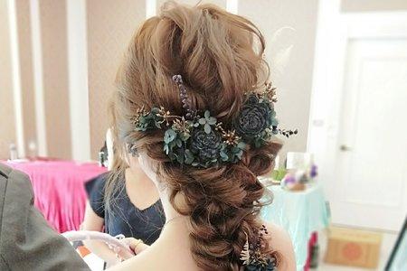 Shan|髮型|編髮|低馬尾