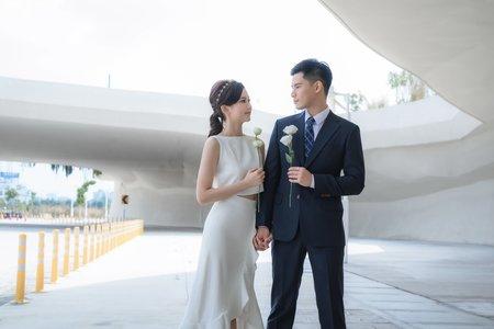 『自助婚紗』藍天與裙襬