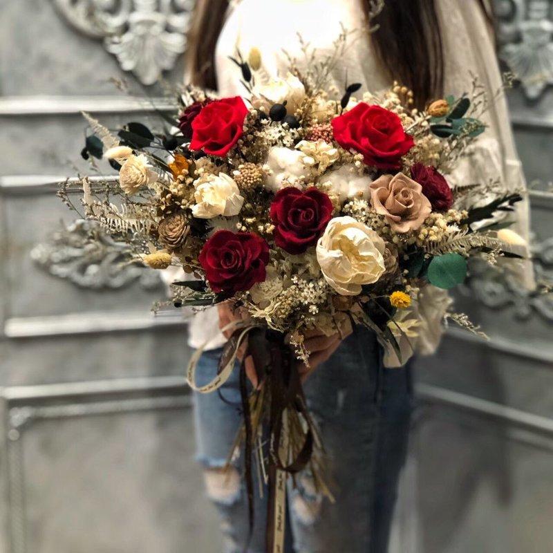 高檔歐風永生玫瑰大捧花