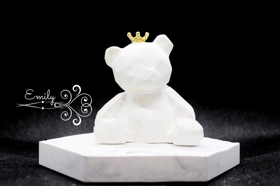 熊熊+皇冠 - 唯一花坊/乾燥花/擴香石/捧花/婚禮小物《結婚吧》