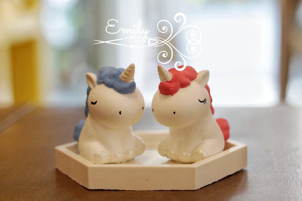 獨角獸 (藍&粉) + 底座 - 唯一花坊/乾燥花/擴香石/捧花/婚禮小物《結婚吧》