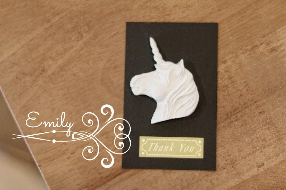 黑卡片獨角獸 - 唯一花坊/乾燥花/擴香石/捧花/婚禮小物《結婚吧》