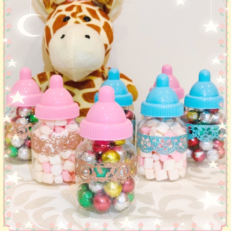 ❤️迷你奶瓶罐裝棉花糖🍼婚禮小禮物❤️作品