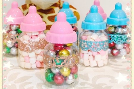 ❤️迷你奶瓶罐裝棉花糖🍼婚禮小禮物❤️