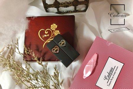Cadeau | 黑檀雙心 Heart | 結婚對章
