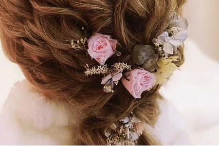 自製不凋花頭飾 新娘不凋 乾燥花頭飾