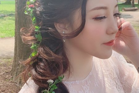 森林中的仙氣新娘
