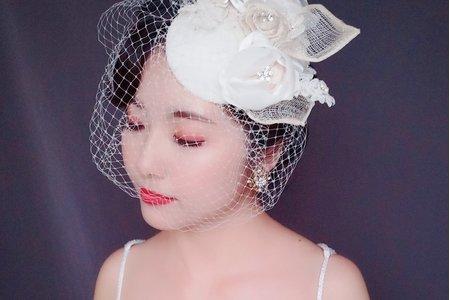 Sandy 芯儀彩妝造型-復古白紗造型