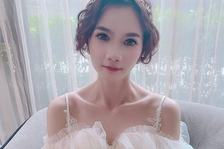 Sandy芯儀新娘秘書x噴槍底妝-短髮造型