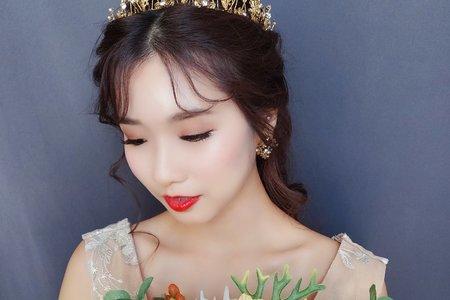 Sandy 芯儀彩妝造型x噴槍底妝-氣質韓系公主