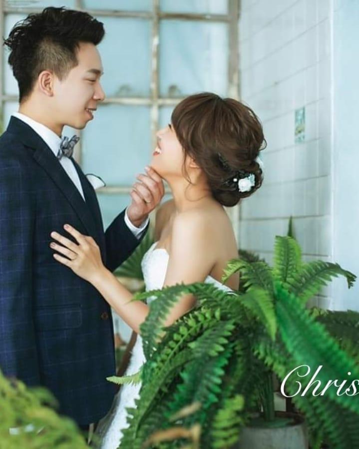#Chris&Umi全球新秘推薦#hermosaweddings禮服#與古拉合作拍攝 - Chris han新娘造型《結婚吧》