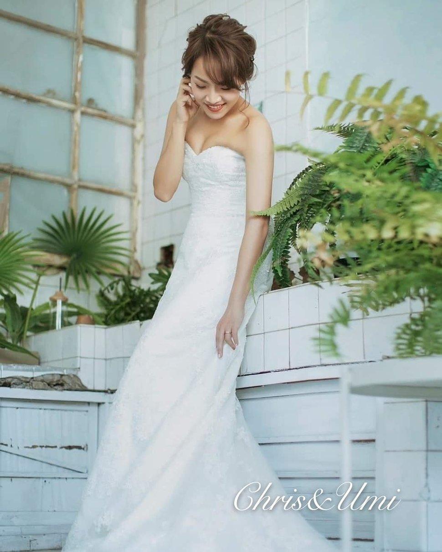 #Chris&Umi#全球新秘推薦#與古拉合作拍攝#hermosawedding禮服 - Chris han新娘造型《結婚吧》