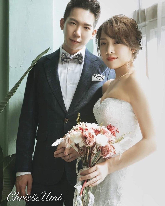 #Chris&Umi全球新秘推薦#與古拉合作拍攝#hermoswedding 禮服 - Chris han新娘造型《結婚吧》
