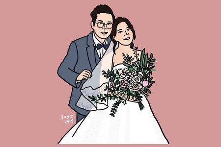 【電子檔】婚紗似顏繪 | 婚禮小物