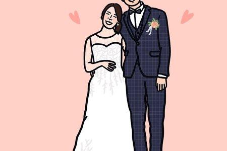 似顏繪範本 Wedding Illustration