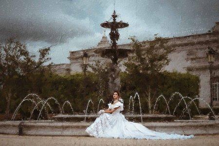 復古婚紗|個人寫真古董婚紗油畫