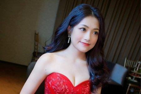 文定造型/紅色禮服/好媳婦