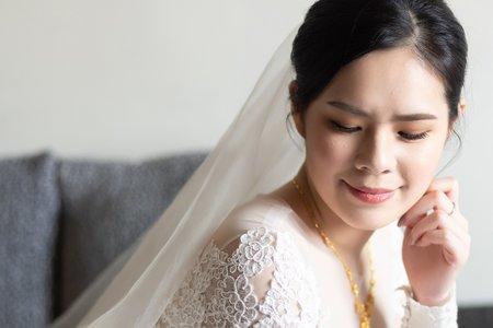 白紗造型/乾淨優雅/慶真婚禮