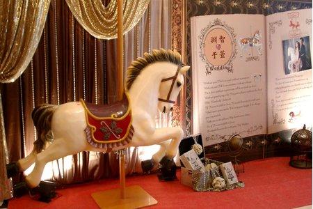 歐式木馬風主題婚禮佈置(咖啡金)-南科總理餐廳