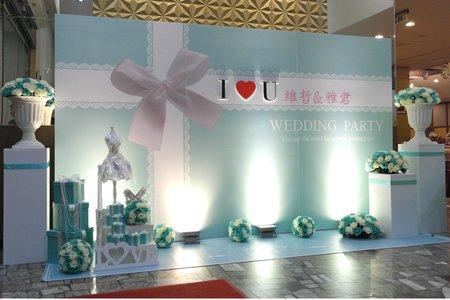高質感背板-主題式Tiffany-仁德金冠餐廳