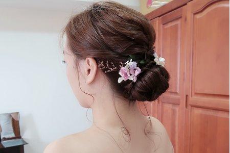 Wedding-乾燥花盤髮
