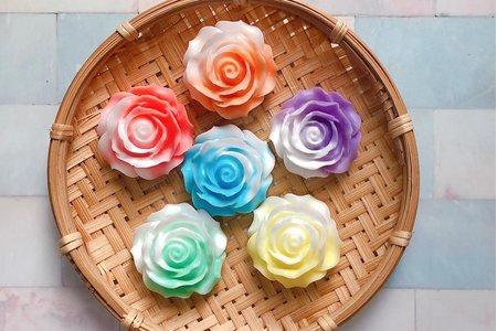 ✨雙色玫瑰花皂 婚禮小物 手工皂