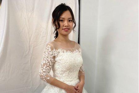 清新自然系新娘造型