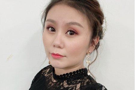 甜美新娘造型+日系側盤髮
