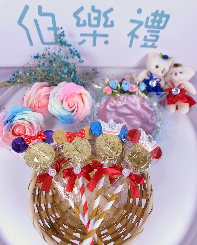 【振興方案】米奇米妮造型金幣巧克力棒作品