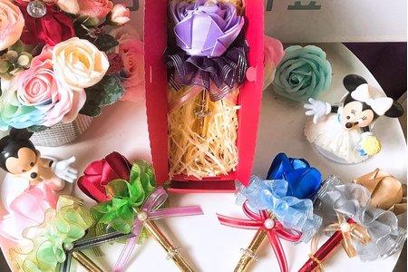 【振興方案】玫瑰花緞帶簽名筆
