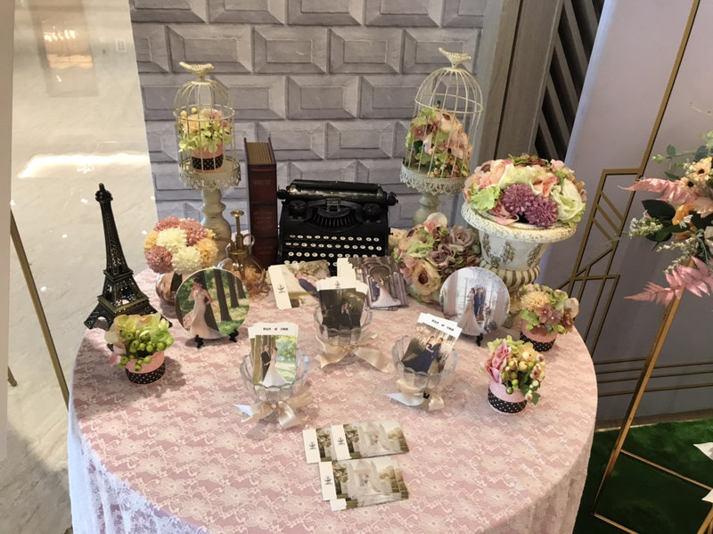 婚禮佈置-背板/相片收禮/拱門/羅馬花柱作品