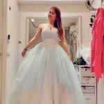 囍聚手工婚紗工作室,大尺碼大甜甜拍婚紗照婚紗禮服試穿