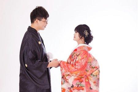 雙人花嫁色打掛棚拍婚紗照(十組精修)