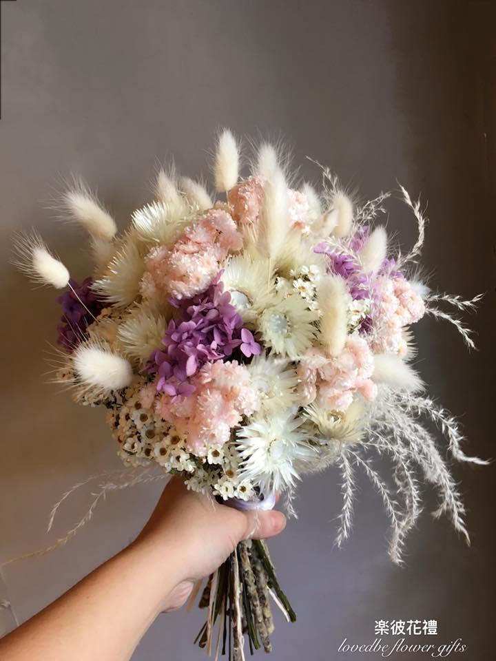 乾燥花 不挑花材客製捧花