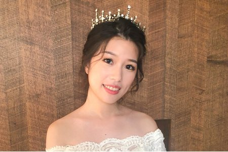 【Chiao楚喬】復古皇冠韓式低盤髮