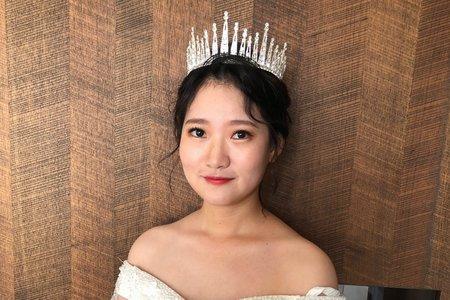 【Chiao楚喬】韓式氣勢皇冠低盤髮