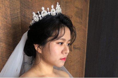 【Chiao楚喬】新娘試妝韓系低盤髮搭配皇冠
