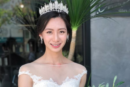 【Chiao楚喬】韓風氣質白紗低盤髮